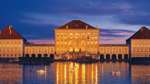Nymphenburgin palatsi Munchen Saksa.