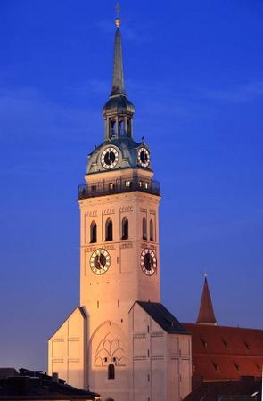 Peterskirche Munchen Saksa.