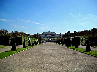 Belvedere palace gardens Vienna Austria
