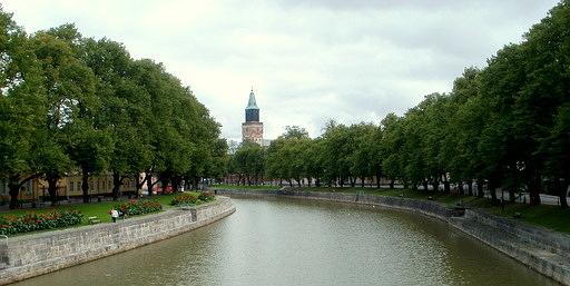 Aurajoki Aurasilta Turku Tuomiokirkko