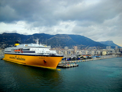Corsica Sardinia Ferries in Toulon France