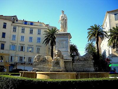 Fontaine des Quatre Lions Ajaccio France