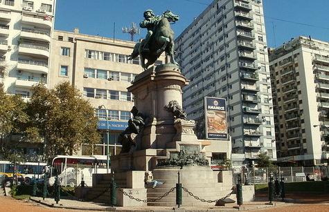 Giuseppe Garibaldi monument Plaza Italia Buenos Aires