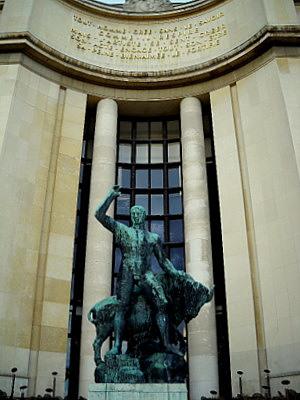 Hercules statue Palais de Chaillot Paris France