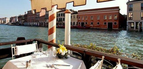 Hotel Continental restaurant terrace Venice Italy