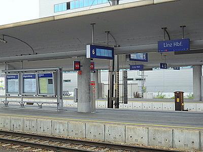 Austria railway station Linz