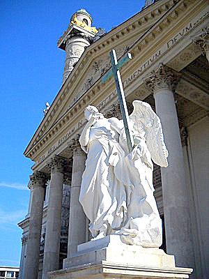 Karlskirche angel statue Vienna Austria