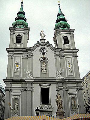 Mariahilfer kirche Mariahilferstrasse Vienna Austria