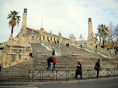 Marseille train station stairs