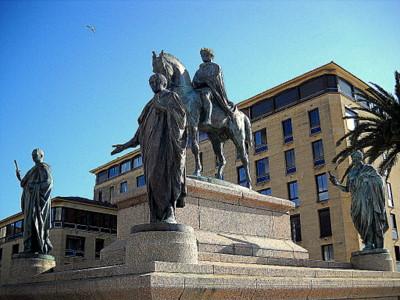 Napoleon et ses freres monument Ajaccio France