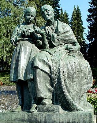 Näsinpuisto monumentti Kotiteollisuus