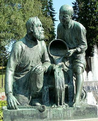 Näsinpuisto monumentti Tehdasteollisuus