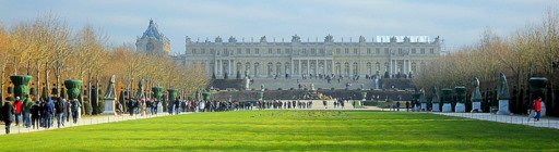 View to the Versailles Palace Paris France