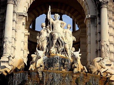 Palais Longchamp fountain Marseille France