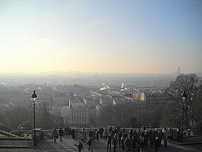 Panorama from Sacre Coeur church Paris France