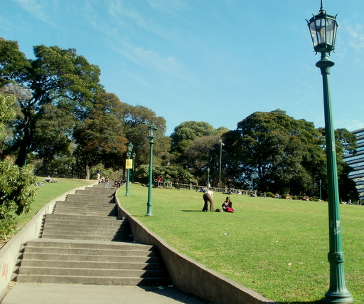 Plaza San Martin stairs Buenos Aires