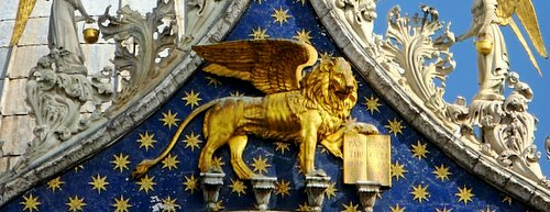 Saint Mark's lion Venice Italy