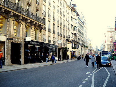 Rue Saint Honore Paris France