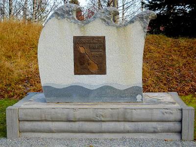 Sorveusjärven purkaus monumentti Juuka