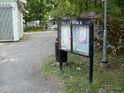 Tampereen tallipiha sisäänkäynti