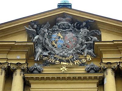 Theatinerkirche detail Munich Germany