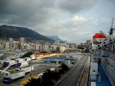 Toulon harbor terminal France
