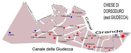 Venice churches in Dorsoduro