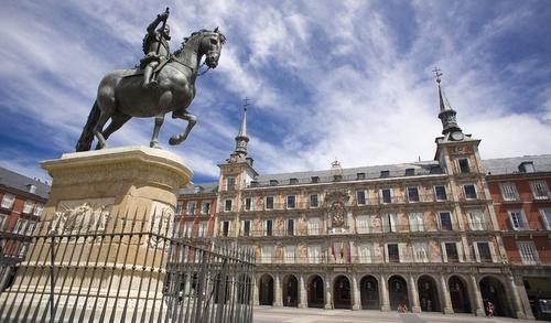 Plaza Madrid aukio Madrid.