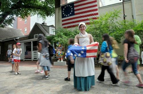 The Betsy Ross House Philadelphia Yhdysvallat.