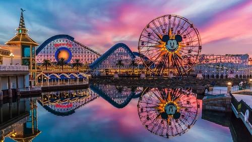 Disneyland Resort Orange County Kalifornia Yhdysvallat.