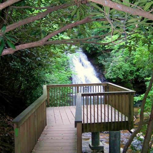 High Shoals Scenic Area and Falls Helen Georgia Yhdysvallat.