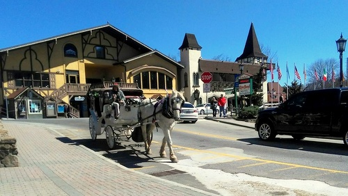 Horne's Buggy Ride hevosajelu Helen Georgia Yhdysvallat.