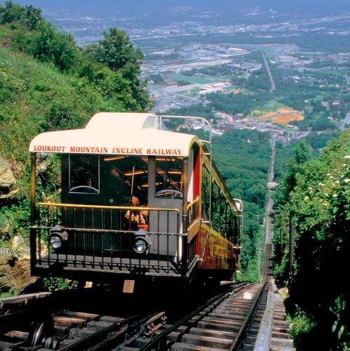 Lookout Mountain rinnerautatie Chattanooga Yhdysvallat.