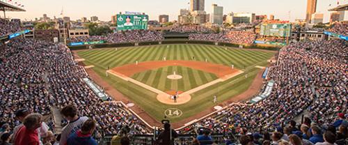 Wrigley Field baseballkenttä Chicago Yhdysvallat.