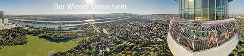Wiener Donauturm Wien Itävalta.