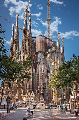 La Sagrada Familia kirkko Barcelona Espanja.