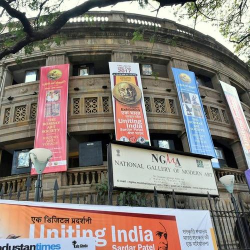 Modernin taiteen kansallisgalleria Mumbai Intia.